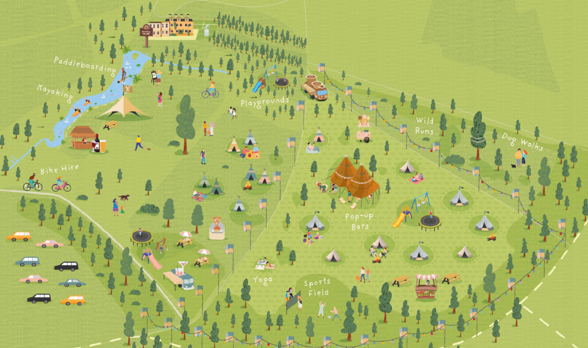 Glamping site map